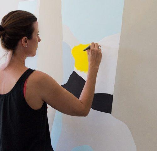 Clare Brodie painting Between
