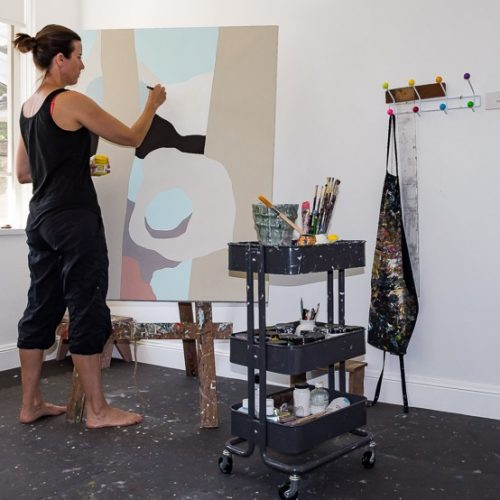 Clare Brodie painting Between